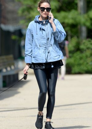 Olivia Palermo in Tights Heads to gym in Brooklyn