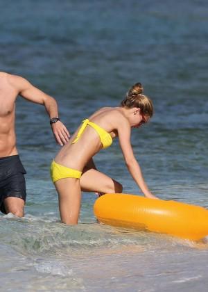 Olivia Palermo in Yellow Bikini -08
