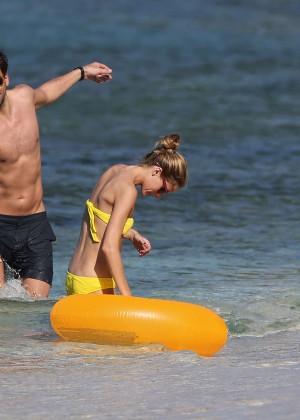 Olivia Palermo in Yellow Bikini -09