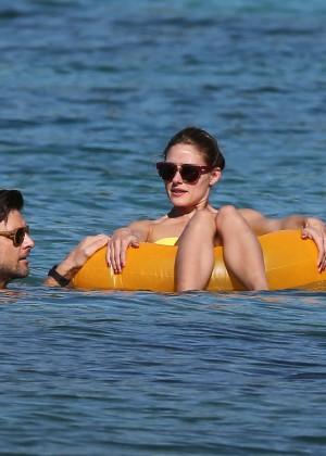 Olivia Palermo in Yellow Bikini -10