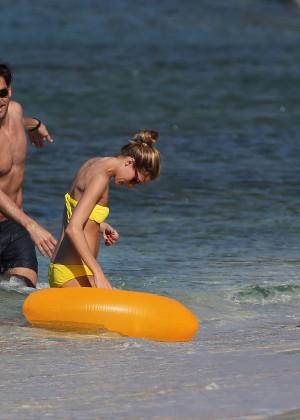 Olivia Palermo in Yellow Bikini -11
