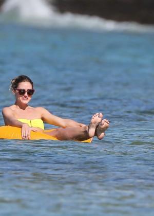 Olivia Palermo in Yellow Bikini -29