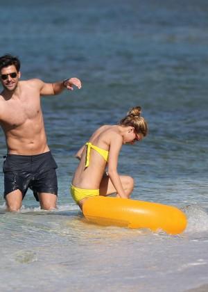 Olivia Palermo in Yellow Bikini -32