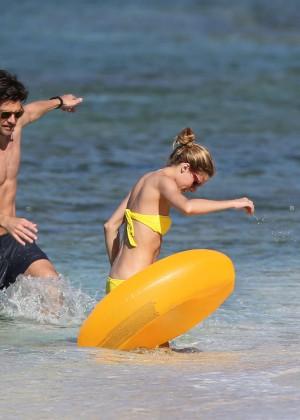 Olivia Palermo in Yellow Bikini -34