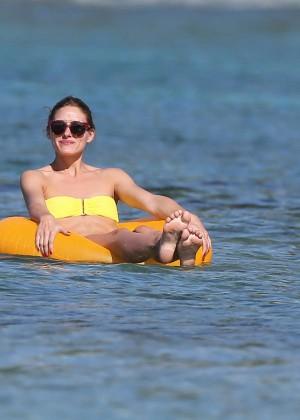 Olivia Palermo in Yellow Bikini -46