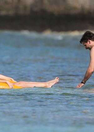 Olivia Palermo in Yellow Bikini -47