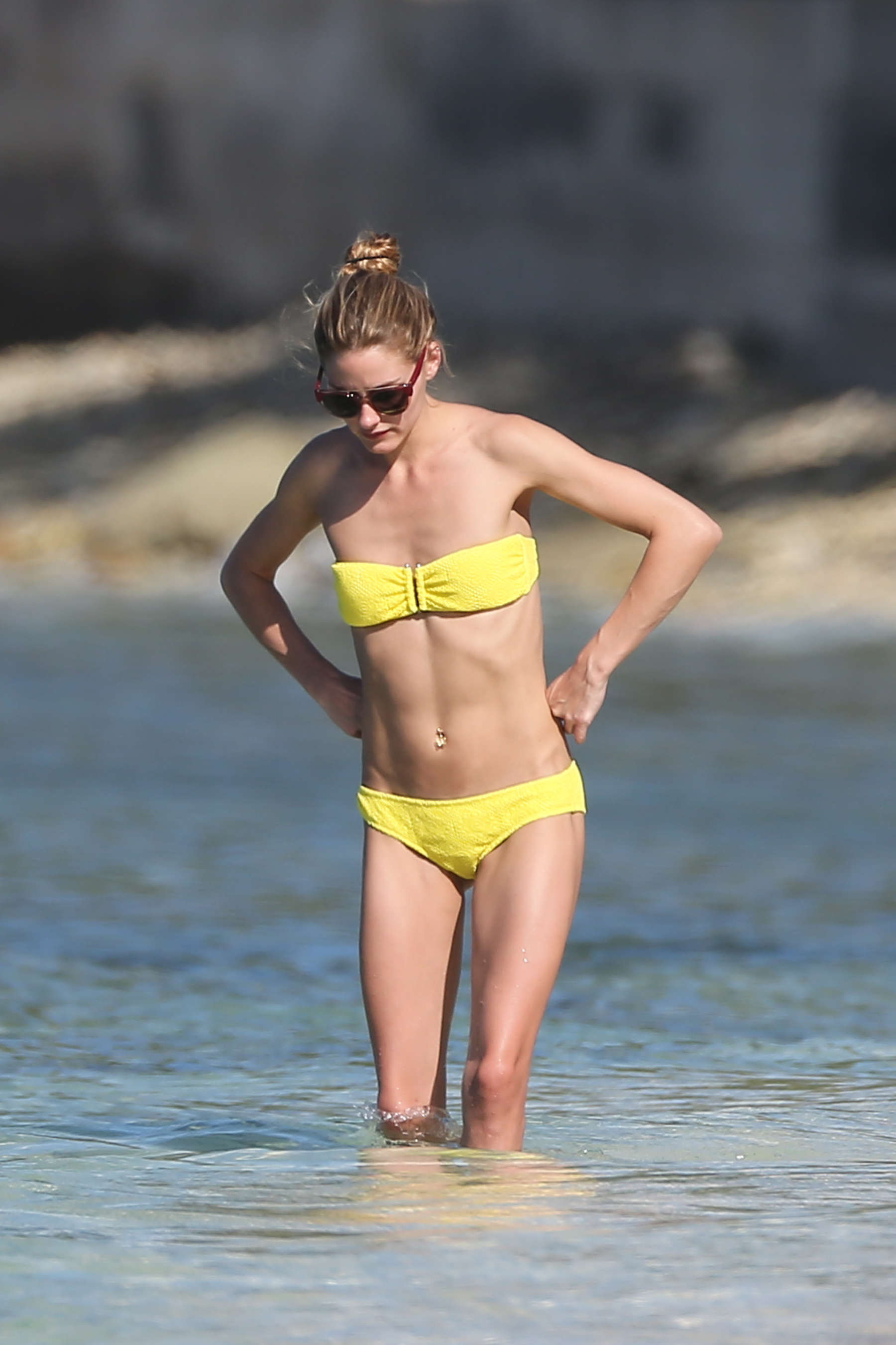 Olivia Palermo in Yellow Bikini in St. Barts