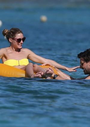 Olivia Palermo in Yellow Bikini -50