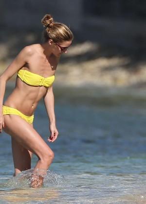 Olivia Palermo in Yellow Bikini -61