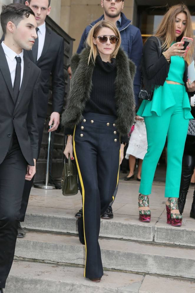 Olivia Palermo - Leaves the Elie Saab Spring Summer 2016 Fashion Show in Paris