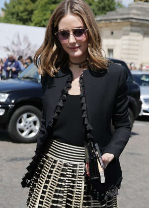 Olivia Palermo - Leaving Dior FW 2017 Show in Paris