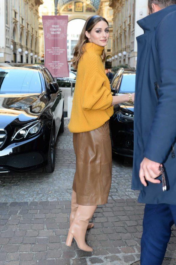 Olivia Palermo - Leaving her hotel during Milan Fashion Week