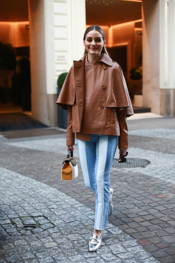 Olivia Palermo - leaving her hotel during Milan fashion week