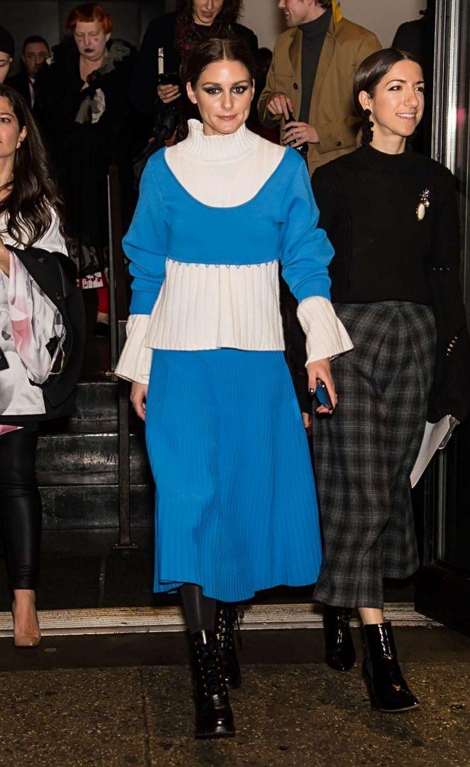 Olivia Palermo - Leaving Prabal Gurung Fashion Show 2018 in NY