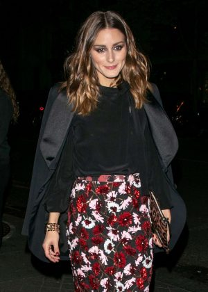 Olivia Palermo - Leaving the YouTube cocktail party in Paris
