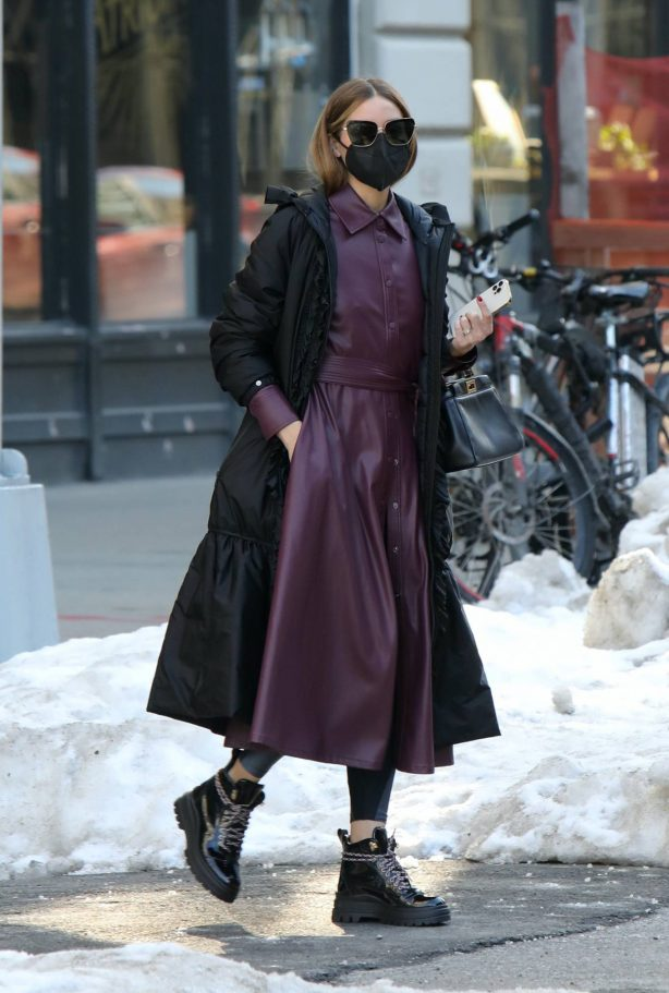 Olivia Palermo - Out and about in Dumbo - Brooklyn