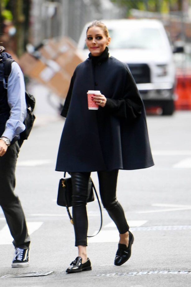 Olivia Palermo - Out for a coffee run in Tribeca - New York