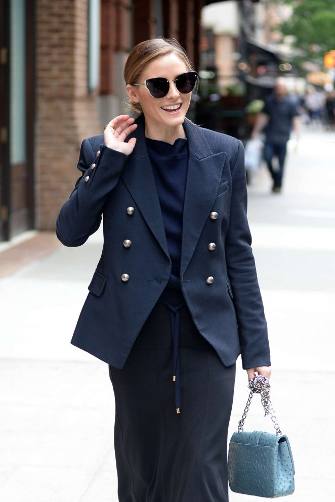 Olivia Palermo out for lunch in New York