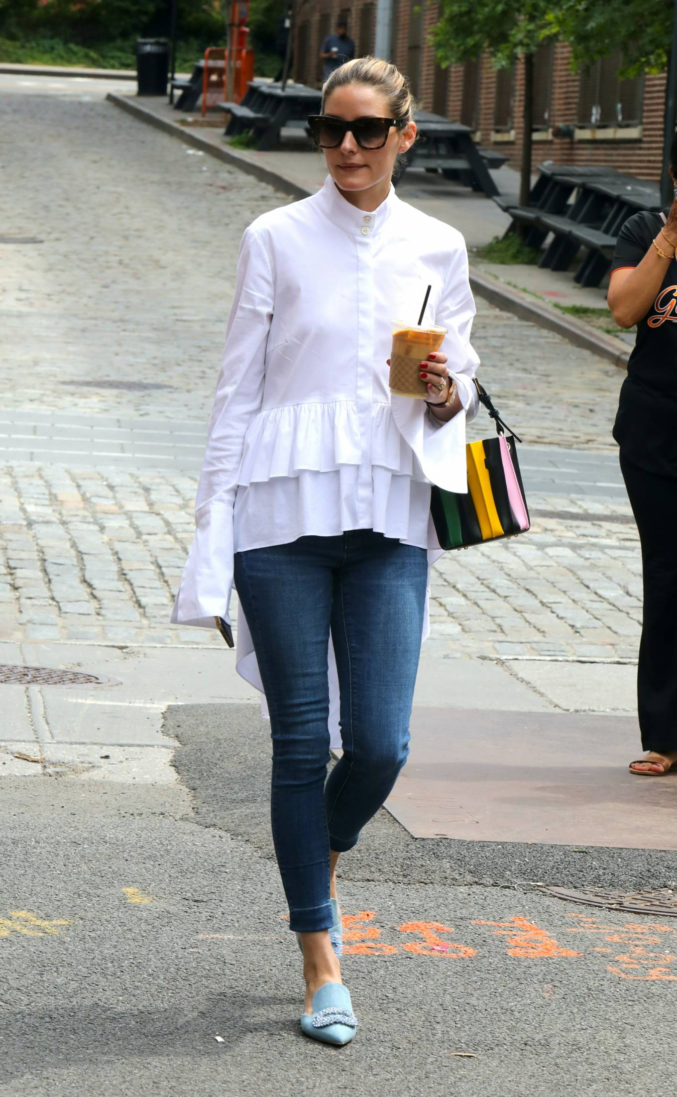 Olivia Palermo - Out in skinny jeans while getting an iced coffee in New York