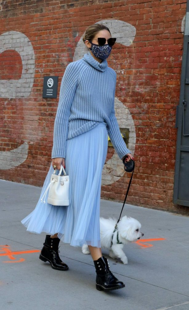 Olivia Palermo - Out with her puppy in New York