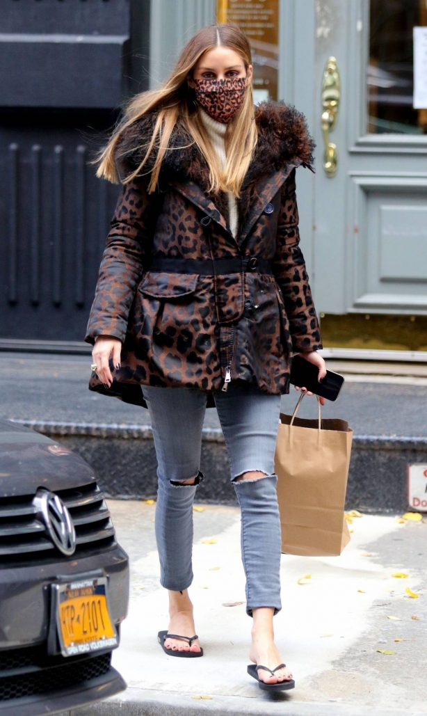 Olivia Palermo - Seen after getting a pedicure in Manhattan