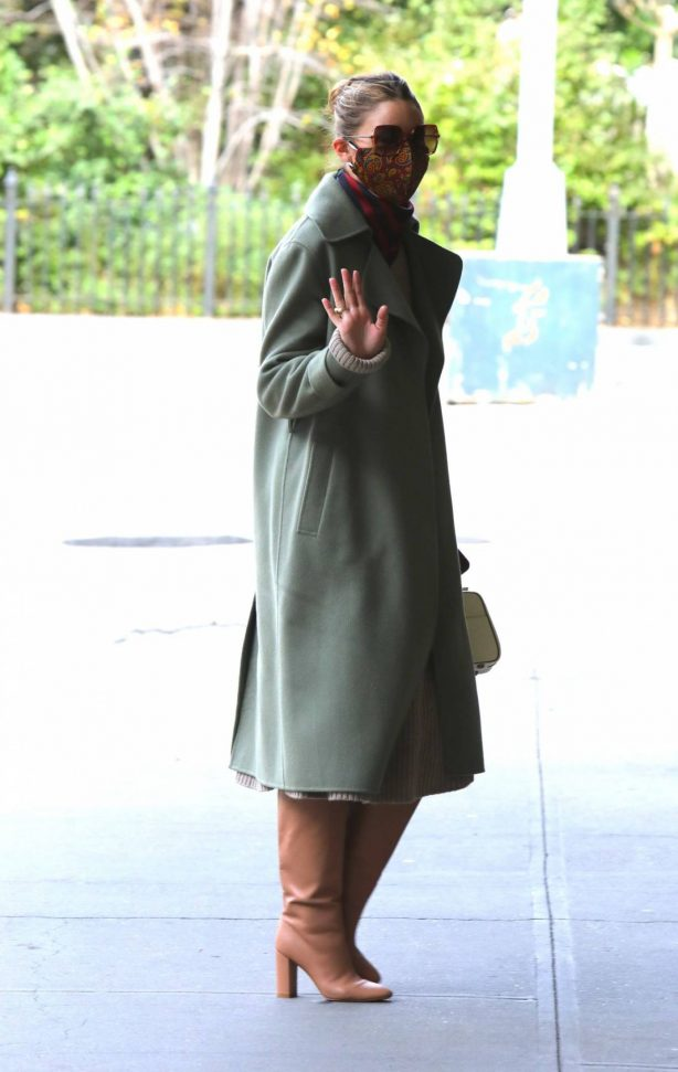Olivia Palermo - seen out and about in NYC
