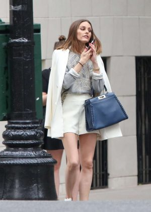 Olivia Palermo - Waiting for a cab in New York