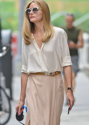 Olivia Palermo - Walking her dog in NYC
