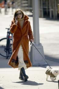 Olivia Palermo - Walks Her Dog in New York City