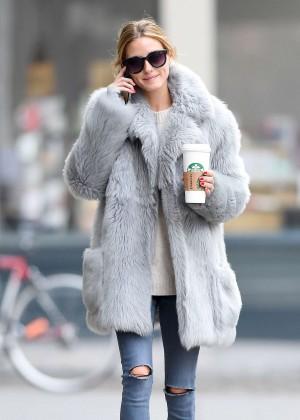 Saab For Sale >> Olivia Palermo Wearing a grey fur coat in Brooklyn – GotCeleb