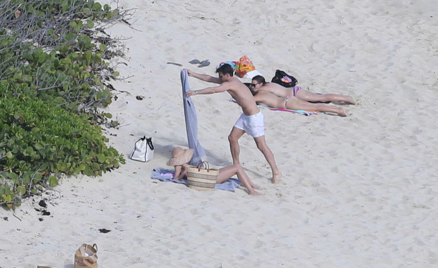 Olivia Palermo 2016 : Olivia Palermo: Wearing Bikini at the beach in St Barts-05