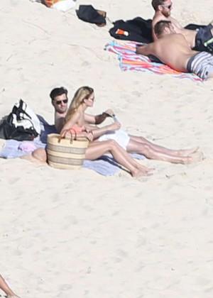 Olivia Palermo - Wearing Bikini at the beach in St Barts