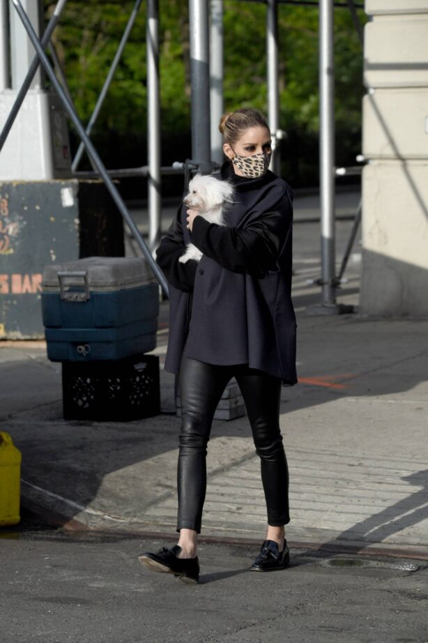 Olivia Palermo - with her dog out in New York