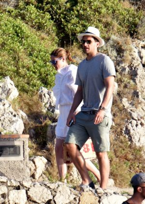 Olivia Palermo with Johannes Huebl out in Capri