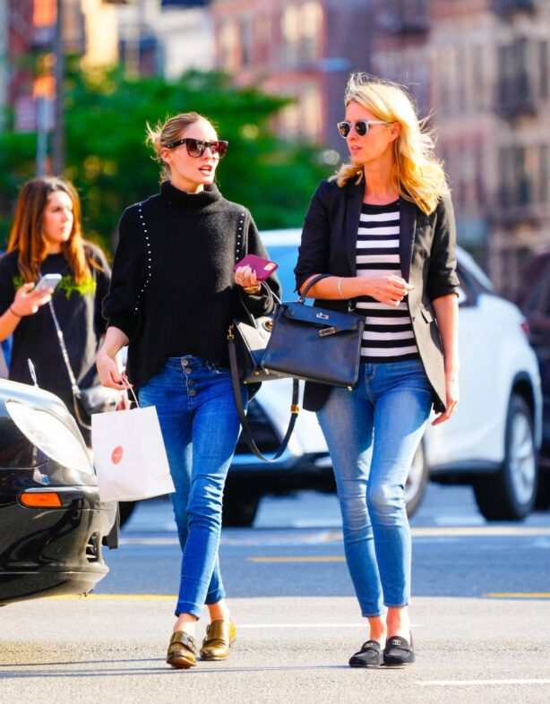 Olivia Palermo - With Nicky Hilton at Sant Ambroeus in Soho