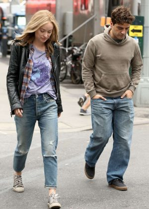 Olivia Wilde and Oscar Isaac on 'Life Itself' set in New York
