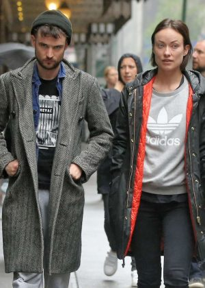 Olivia Wilde and Tom Sturridge Arrive at the Hudson Theatre in NY