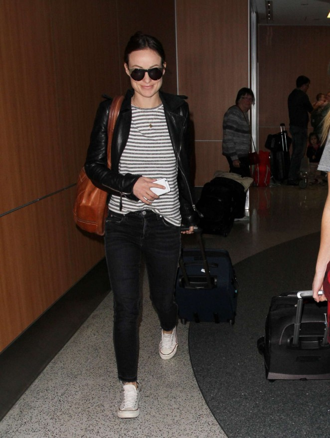 Olivia Wilde Arrives LAX Airport in Los Angeles