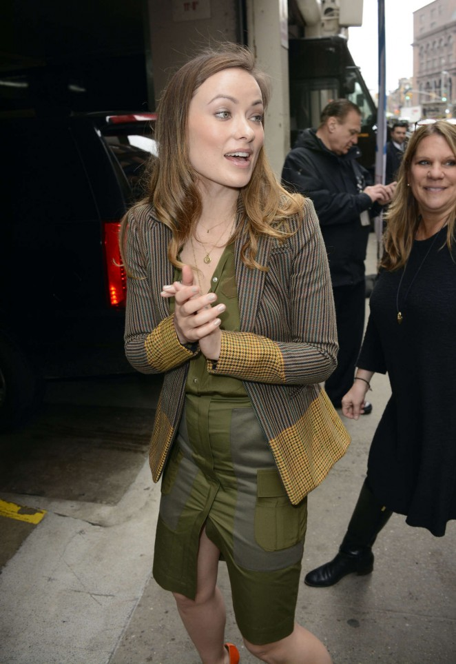 Olivia Wilde - Arriving at 'HuffPost Live' in NYC