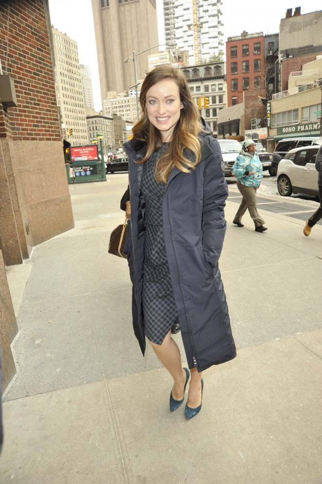 Olivia Wilde - Arriving for various talk show appearances in NY