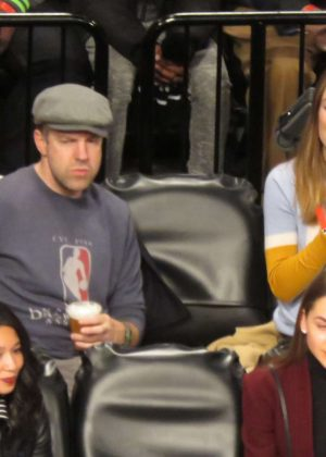 Olivia Wilde at Brooklyn Nets vs. Golden State Warriors in New York