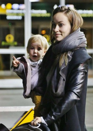 Olivia Wilde at Vancouver International Airport