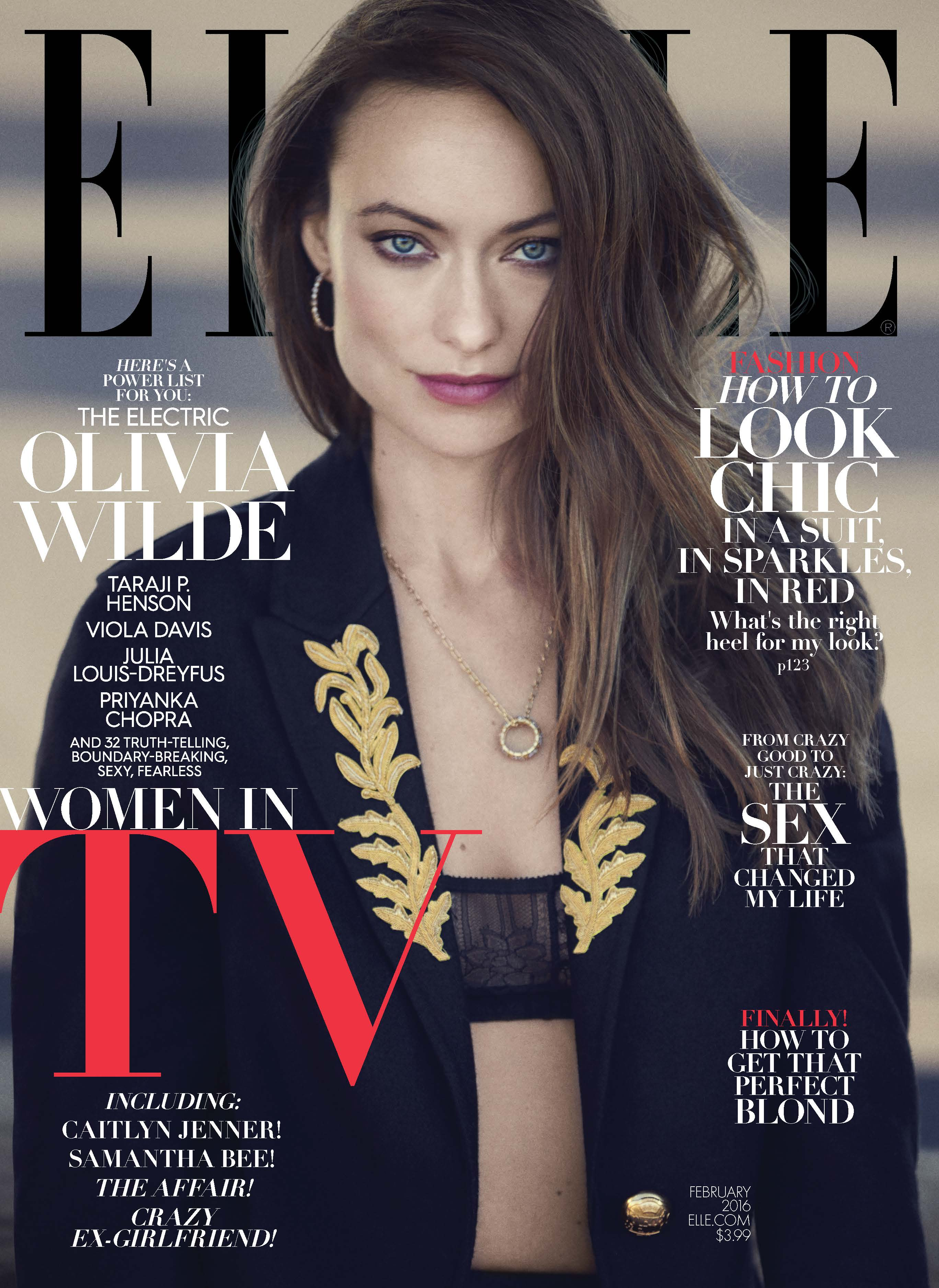 Olivia Wilde - Elle Magazine Cover (February 2016)
