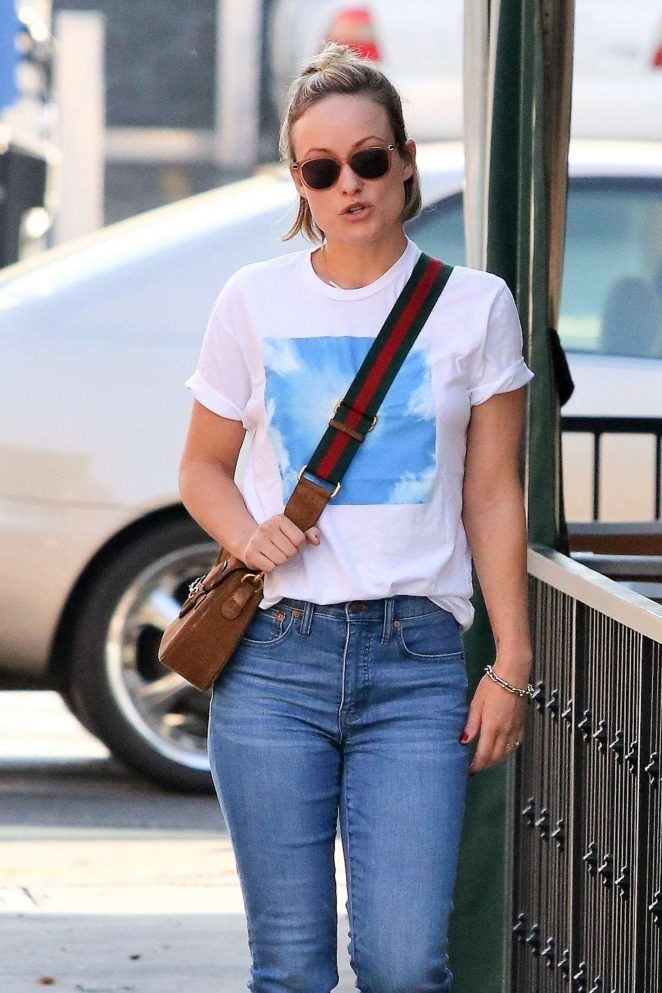 Olivia Wilde - Headed to a Restaurant in Los Angeles