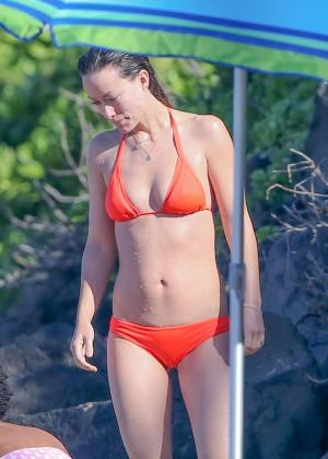 Olivia Wilde - Hot in bikini while on vacation in Hawaii