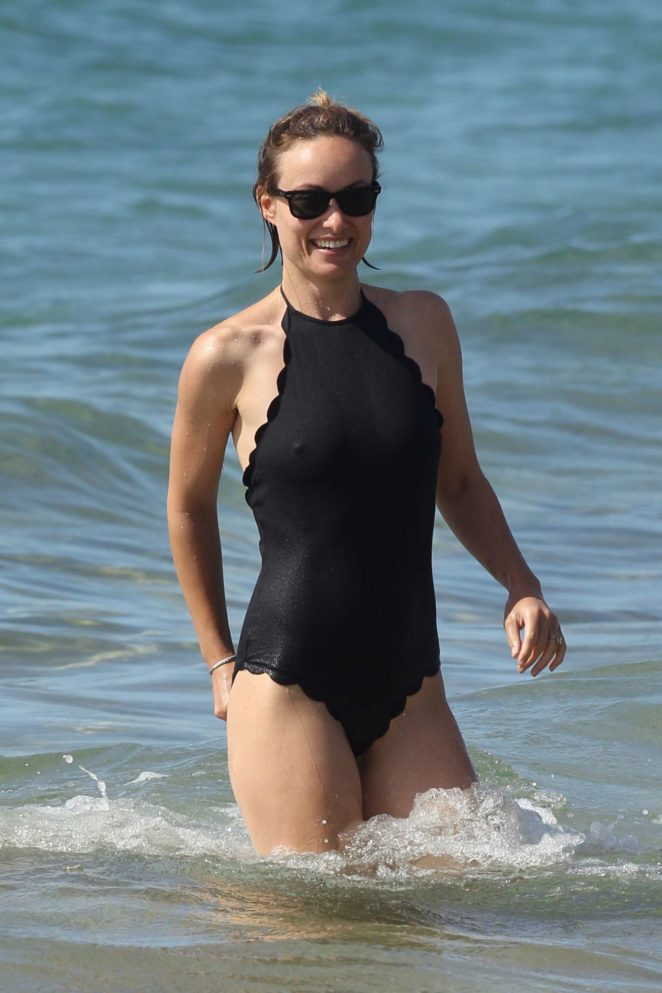 Olivia Wilde in Black Swimsuit 2017 -20