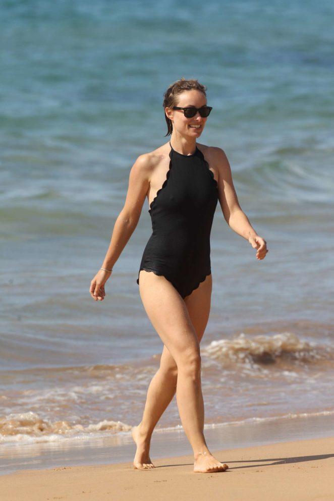 Olivia Wilde in Black Swimsuit 2017 -25