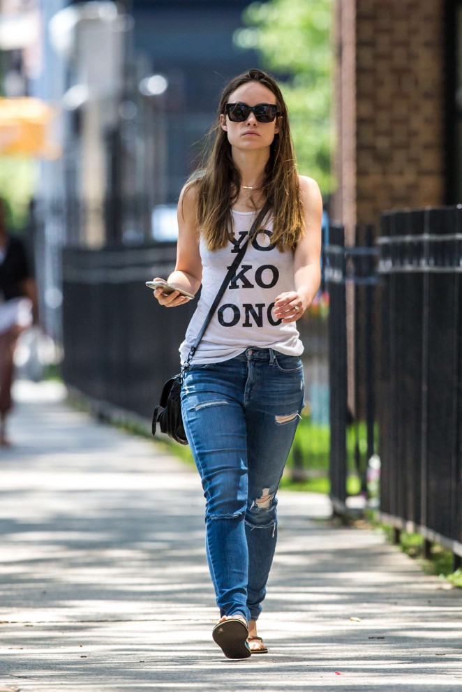 Olivia Wilde in Jeans out and about in Brooklyn