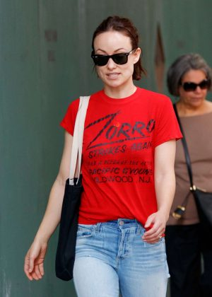 Olivia Wilde in Jeans Out in NYC
