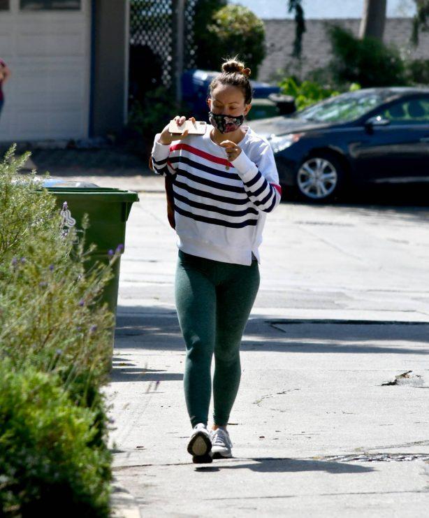 Olivia Wilde in Leggings - Out in Los Angeles